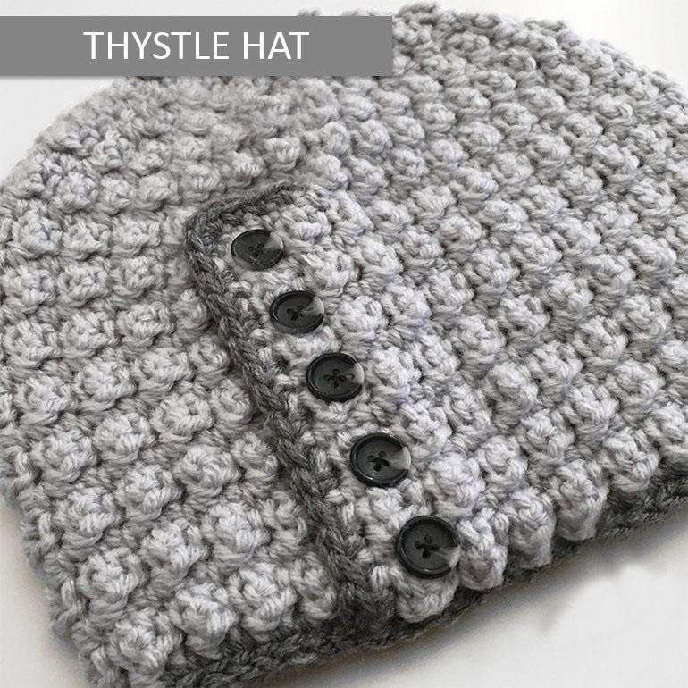 Thystle Beanie Crochet Pattern
