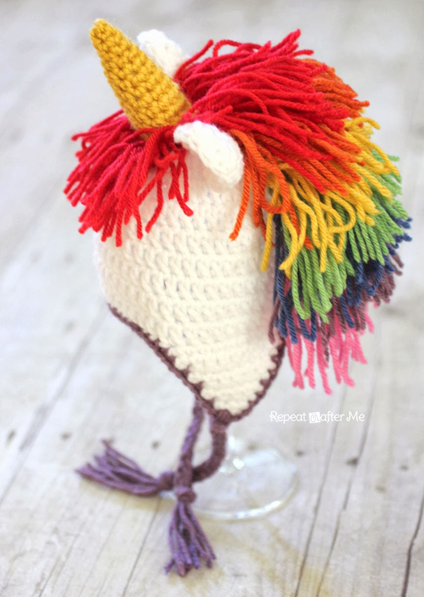 Unicorn Crochet Hat