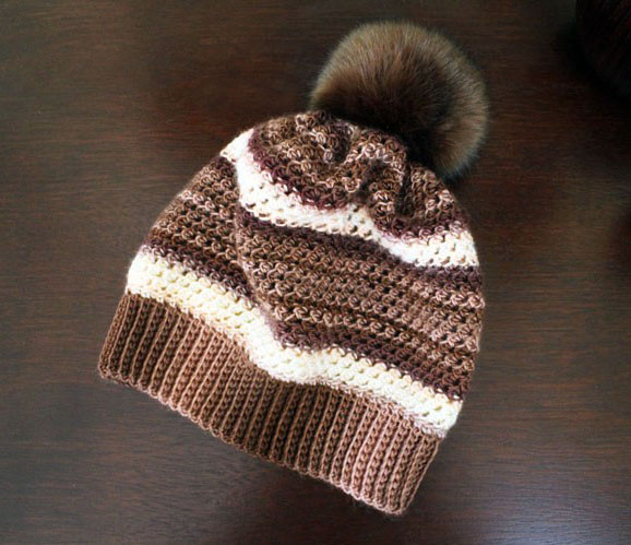 Woven Stitch Hat Crochet Pattern