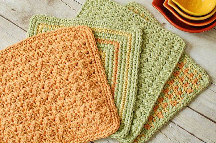 Afghan Stitch Crochet Kitchen Mat