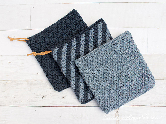 Blue Jean Rhapsody Crochet Hot Pad