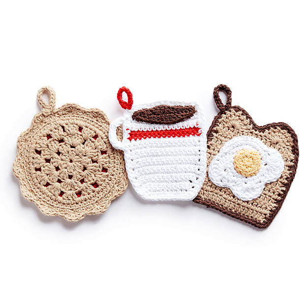 23 Free and Simple Crochet Potholder and Hot Pad Patterns - Stitch11
