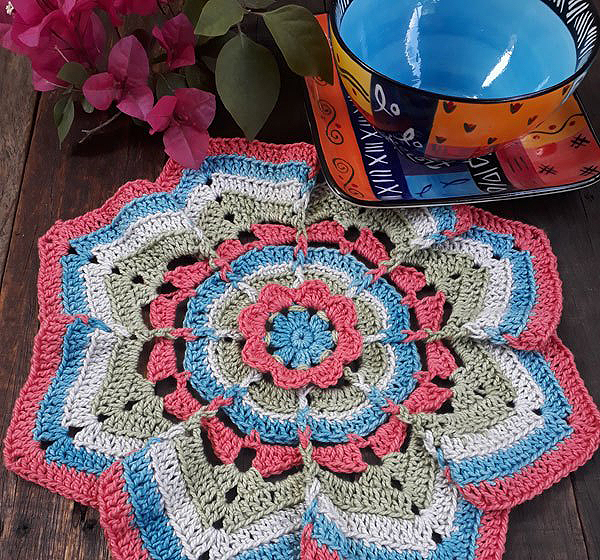Flower Burst Crochet Potholder