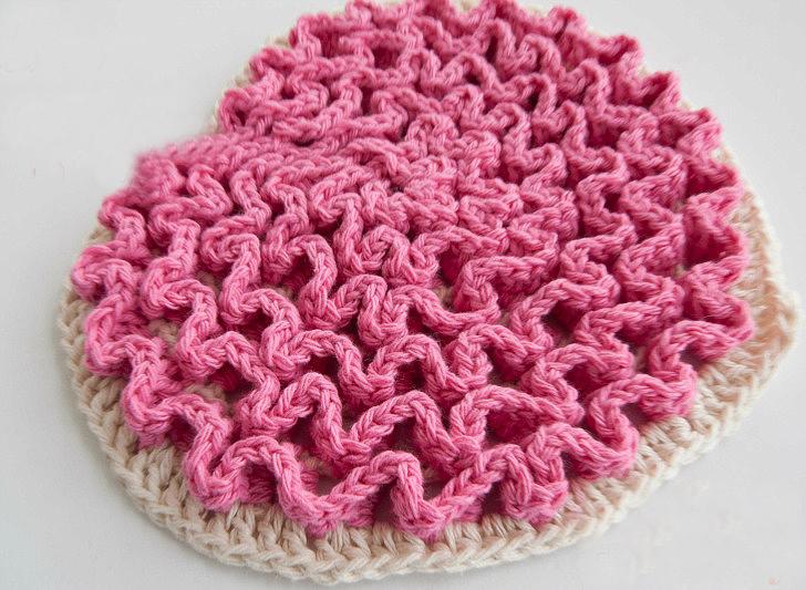 Crochet Love Wiggles Trivet