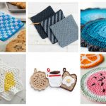 These Crochet Potholders are so cute and creative. There's one for every occasion. #crochetpatterns #crochetpotholders #crochetlove #crochetaddict