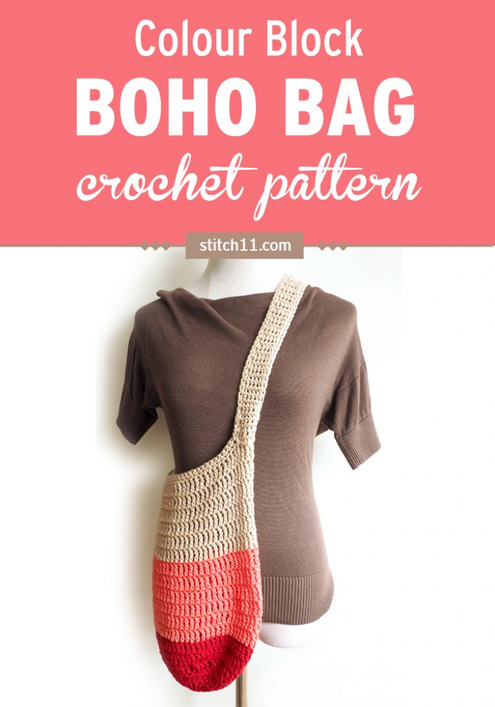 It's hard to stay organized. But with the Colorblock Boho Bag, you can get everything done and look good while doing it. #crochetbag #crochetpattern #crochetbohobag #crochetlove #crochetaddict