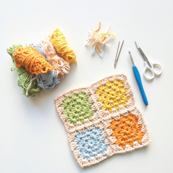 Simple Granny Square Crochet Potholder