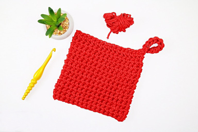 Thermal Stitch Crochet Hot Pad