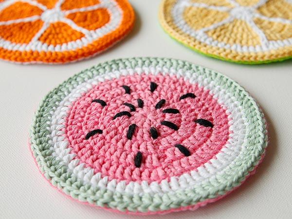 Tutti Frutti Crochet Potholder