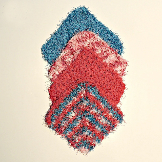 Angled Scrubby Crochet Washcloth