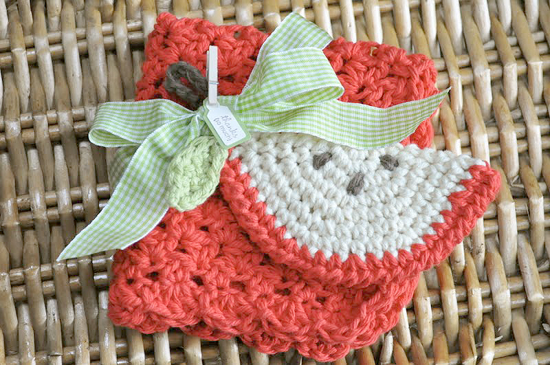 Back-To-School Crochet Scrubbie