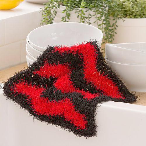 Chevron Crochet Scrubbie