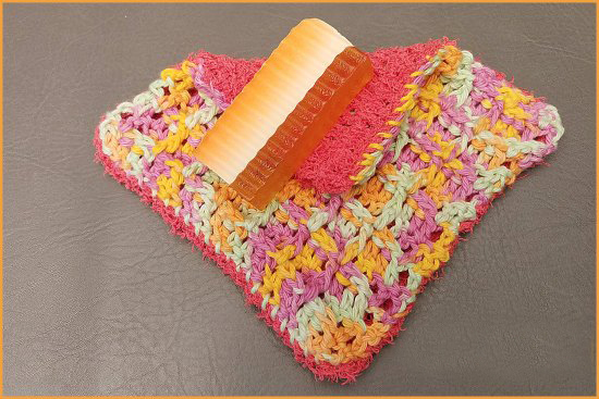 Dual Sided Washcloth Crochet