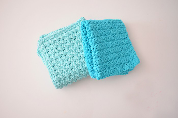Easy Textured Crochet Washcloths