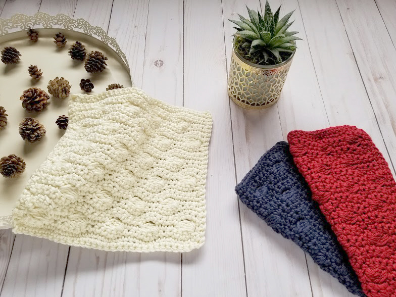 Ocean Waves Washcloth Crochet
