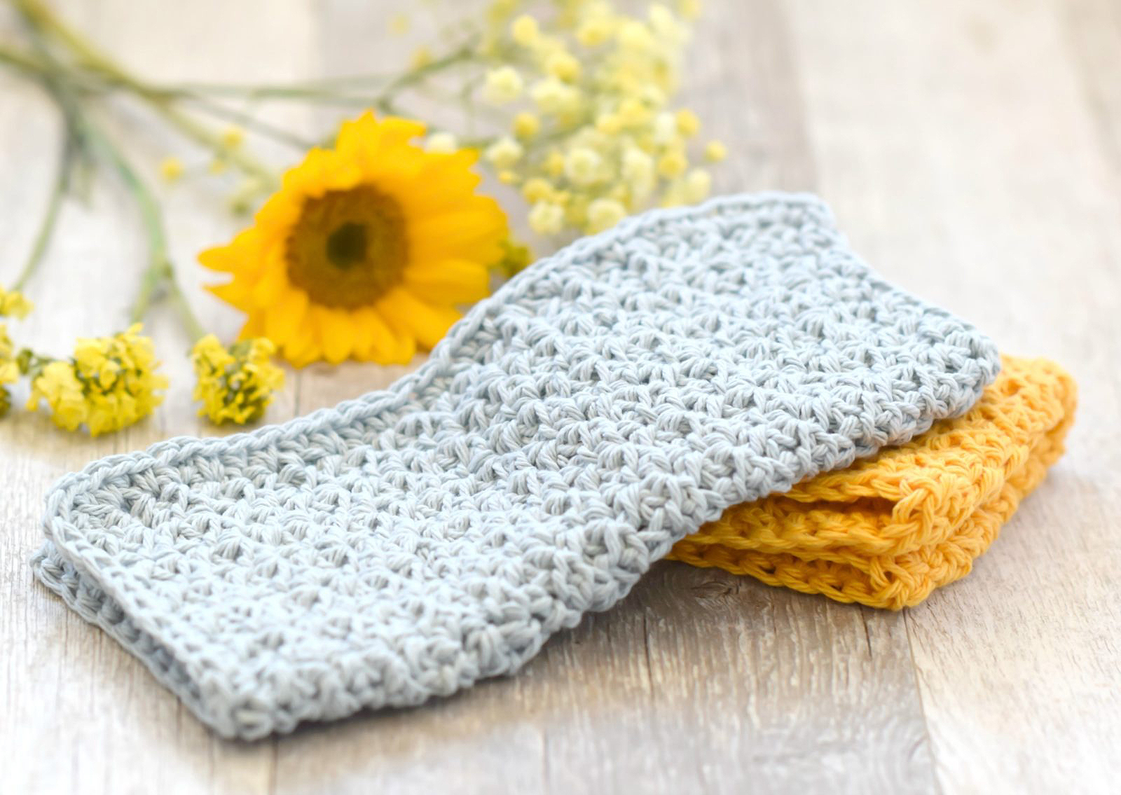 Oversized Farm House Crochet Washcloths
