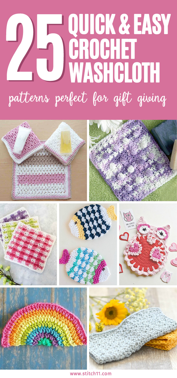 25 Quick And Easy Crochet Washcloth Patterns Perfect For Gift Giving