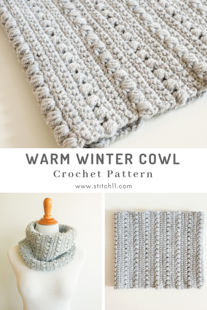 The Warm Winter Cowl will keep you warm and cozy outside in the cold. But it's small enough to throw in your purse once you're inside. #crochetcowl #crochetpattern #crochetlove #crochetaddict