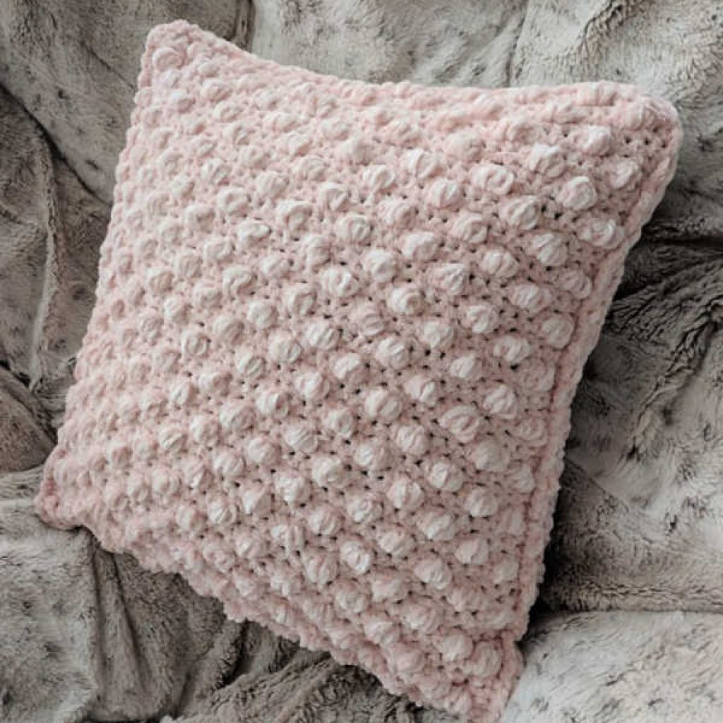 Crochet Puff Pillow