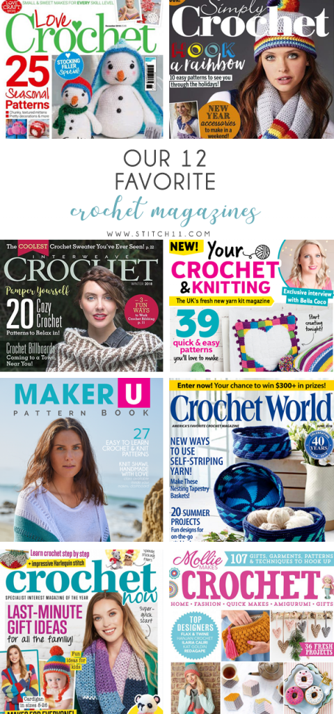 12 favorite crochet magazines