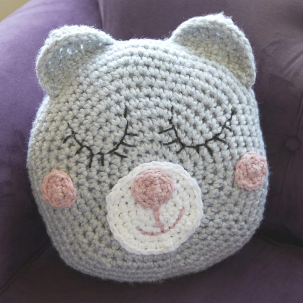 Girls Sleepy Teddy Pillow