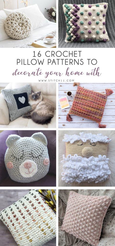 Crochet Pillow Patterns to Decorate Your Home With