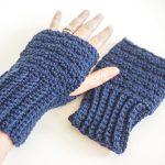 Lemon Peel Fingerless Gloves Crochet Pattern