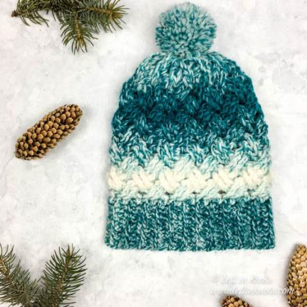 Celtic Winters Slouchy Hat - If you're looking for a crochet hat pattern that suits your needs and looks great on everyone, the crochet slouchy hat is perfect for you. #crochethatpattern #crochetslouchyhat #crochetpattern #crochetslouchbeanie