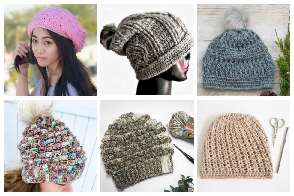 245fd31b69c 12 Crochet Slouchy Hat Pattern - Stitch11