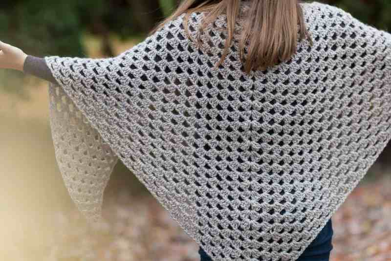 Granny Shawl - These free crochet shawl patterns are easy to make and really fun. Shawls and wraps can be worn in any season and make fabulous gifts. #CrochetShawl  #CrochetShawlPatterns #FreeCrochetPatterns