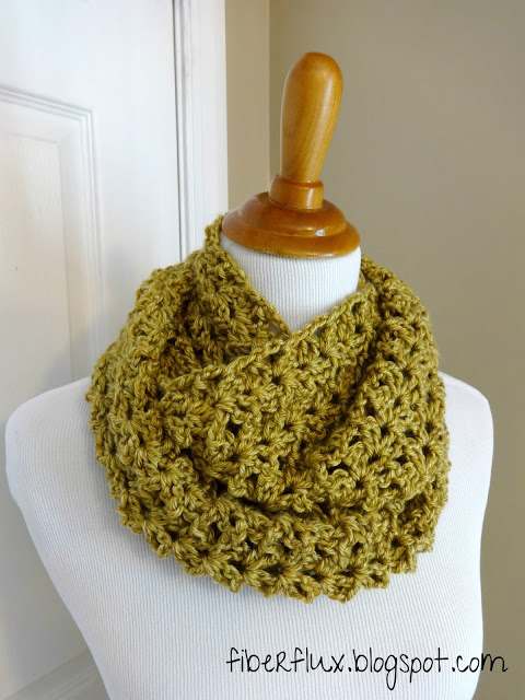 Gold Leaf Infinity Scarf - If you're just learning how to crochet, a crochet infinity scarf will be your best friend. Take advantage of this and make one for the people you love. #CrochetInfinityScarf #ScarfCrochetPatterns #CrochetPatterns