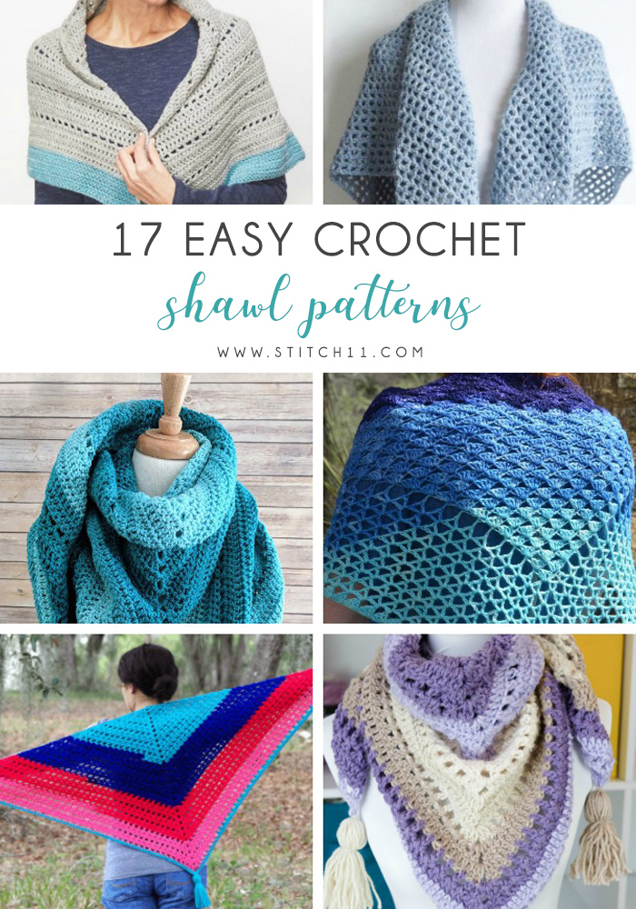 These free crochet shawl patterns are easy to make and really fun. Shawls and wraps can be worn in any season and make fabulous gifts. #CrochetShawl  #CrochetShawlPatterns #FreeCrochetPatterns