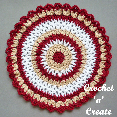 Colorful Mandala - There's nothing quite like a crochet mandala. These all free crochet patterns are fun and useful for many different purposes. #CrochetMandala #FreeCrochetPattern #CrochetMandalaPattern