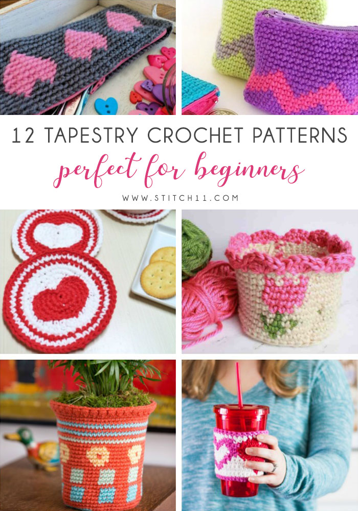 Tapestry crochet patterns are really unique. Try your hand at making these and see if you don't fall in love with the crochet tapestry. #TapestryCrochetPatterns #CrochetPatterns #FreeCrochetPatterns