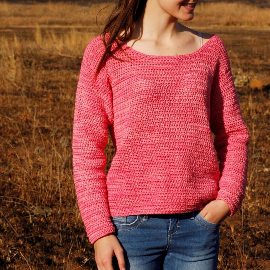 Country Girl - These 16 super easy crochet sweater patterns are the best we've found. There's a good variety to choose from whether you like them light, cropped or with a classic look. #easycrochetsweaterpatters #easycrochetpatterns #crochetsweaters