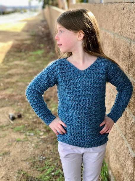 Heidi Sweater - These 16 super easy crochet sweater patterns are the best we've found. There's a good variety to choose from whether you like them light, cropped or with a classic look. #easycrochetsweaterpatters #easycrochetpatterns #crochetsweaters
