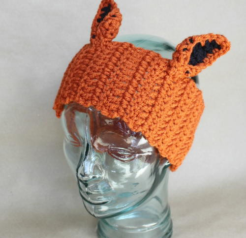 Fox Ear Warmers - Check out these cute, versatile and functional crochet ear warmer patterns and get started on your stock before the cold sets in! #crochetearwarmerpatterns #crochetearwarmers #crochetpatterns