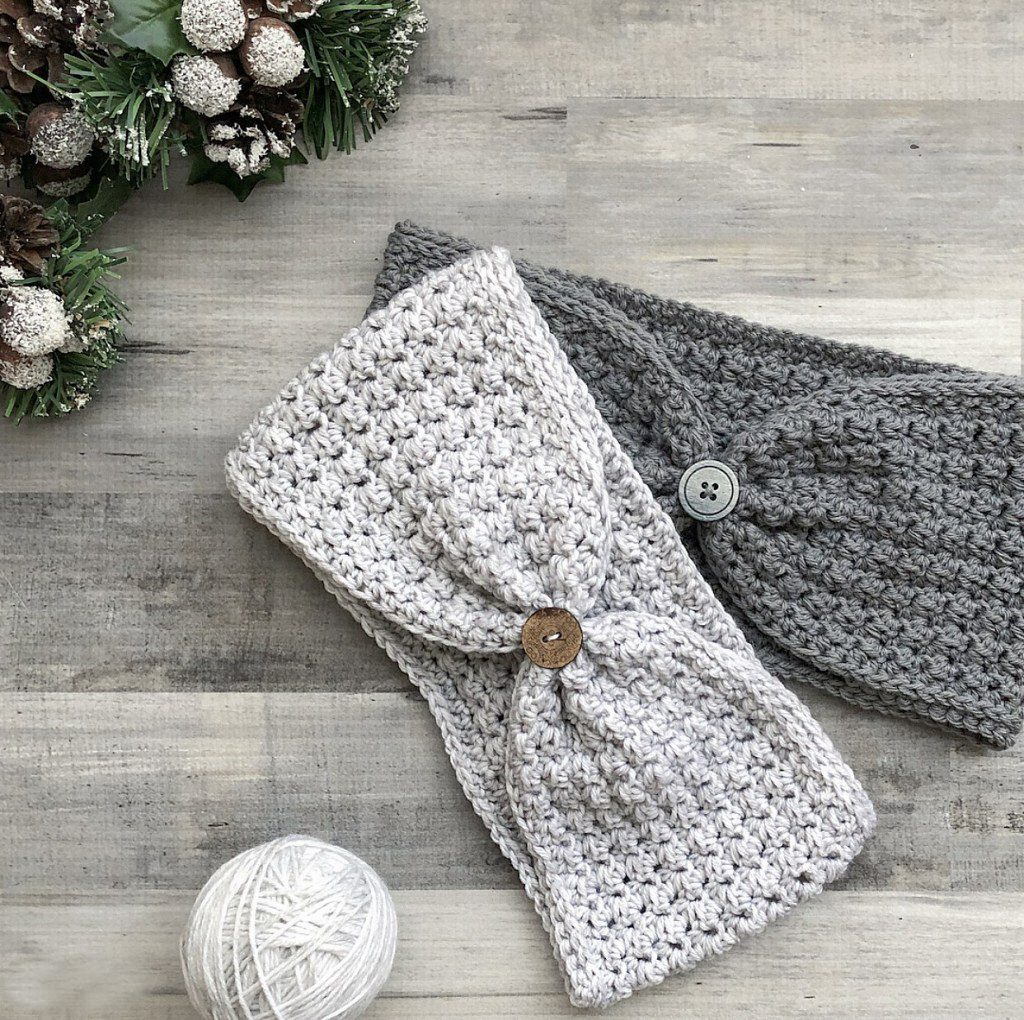 Hope Ear Warmer - Check out these cute, versatile and functional crochet ear warmer patterns and get started on your stock before the cold sets in! #crochetearwarmerpatterns #crochetearwarmers #crochetpatterns