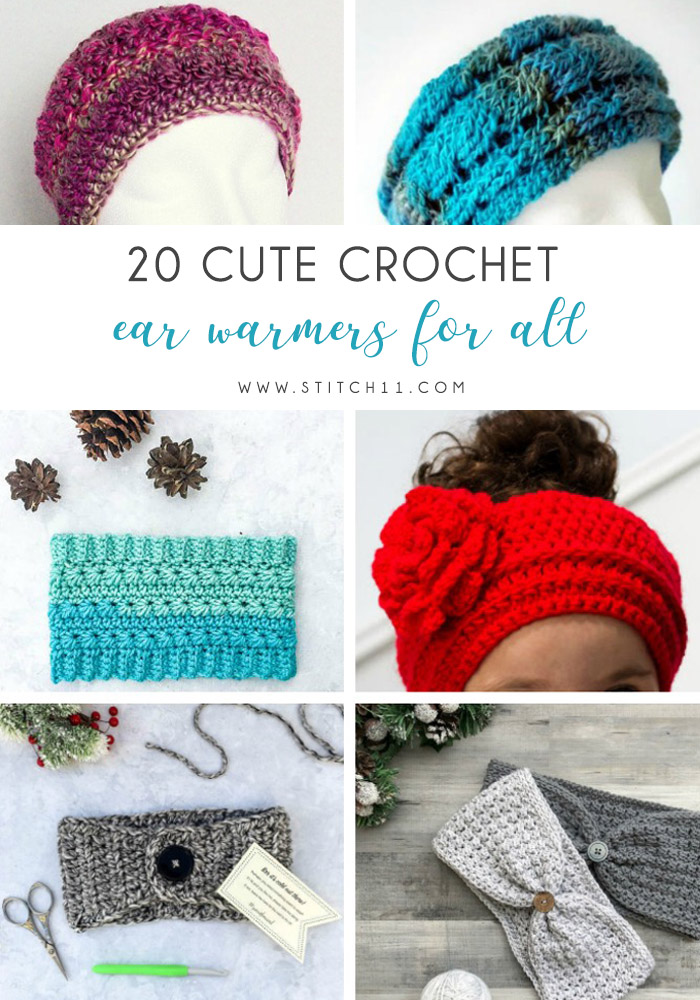 20 Cute Crochet Ear Warmers for Fall - Check out these cute, versatile and functional crochet ear warmer patterns and get started on your stock before the cold sets in! #crochetearwarmerpatterns #crochetearwarmers #crochetpatterns