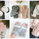 30 Cozy Crochet Mittens for Winter - These crochet mitten patterns will warm your hands up and keep them ready for use throughout the season. #crochetmittenpatterns #crochetpatterns #freecrochetpatterns