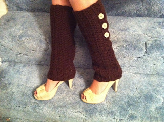 Brown Buttoned Leg Warmers - These 19 crochet leg warmers are just some of the comfiest ones we can find that you can do in a jiff! #crochetlegwarmers #crochetpatterns #freecrochetpatterns