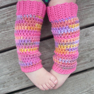 Bubblegum Baby Leg Warmers - These 19 crochet leg warmers are just some of the comfiest ones we can find that you can do in a jiff! #crochetlegwarmers #crochetpatterns #freecrochetpatterns