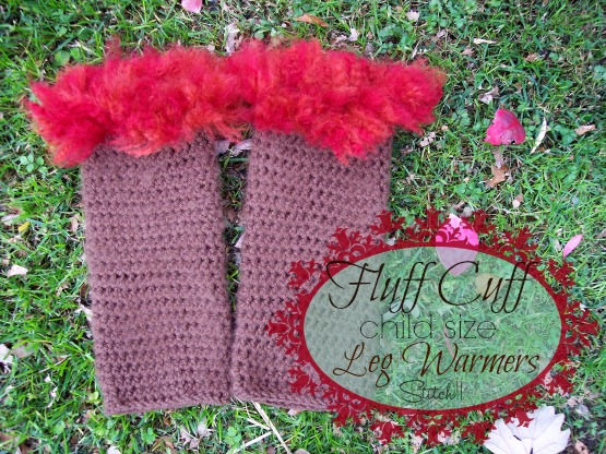 Fluff Cuff – Child Size Leg Warmers - These 19 crochet leg warmers are just some of the comfiest ones we can find that you can do in a jiff! #crochetlegwarmers #crochetpatterns #freecrochetpatterns