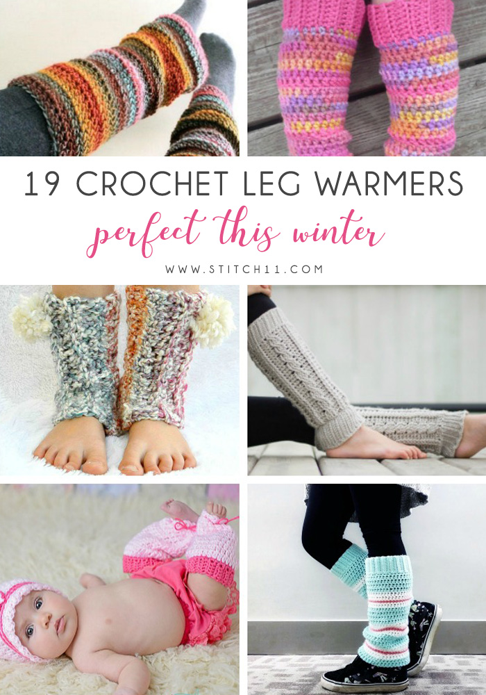 19 Crochet Leg Warmers Perfect This Winter - These 19 crochet leg warmers are just some of the comfiest ones we can find that you can do in a jiff!