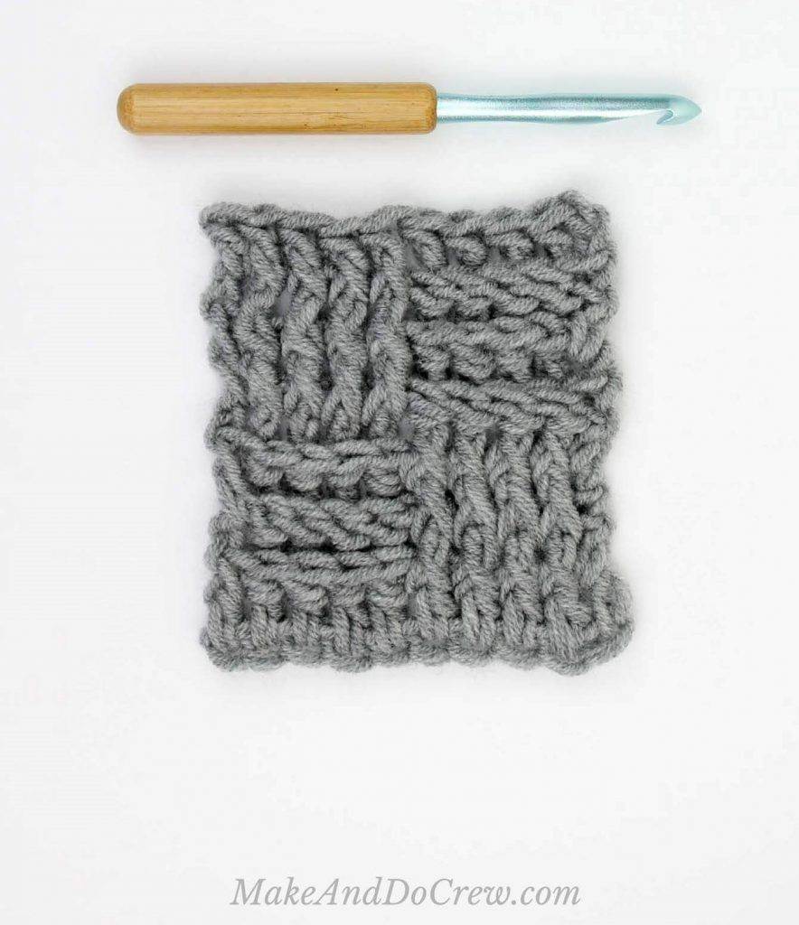 The Basket Weave Stitch - These 20 unique crochet stitches may challenge you or even confound you for a moment, but tackling them and mastering them will be gratifying. #crochetstitches #uniquecrochetstitches