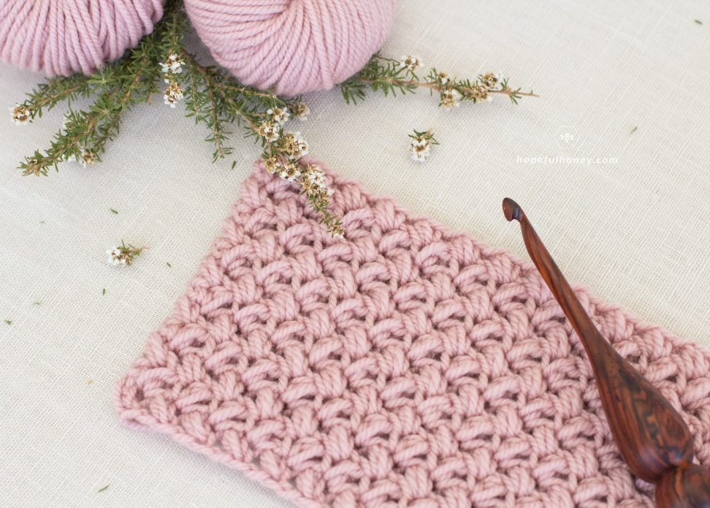 The Mini Bean Stitch - These 20 unique crochet stitches may challenge you or even confound you for a moment, but tackling them and mastering them will be gratifying. #crochetstitches #uniquecrochetstitches