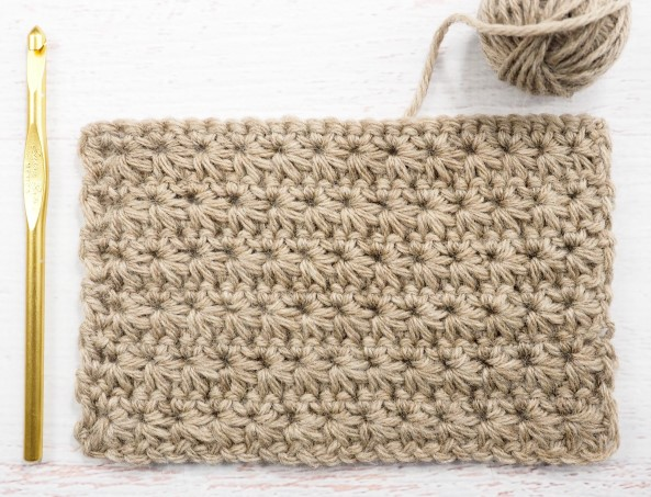 The Star Stitch - These 20 unique crochet stitches may challenge you or even confound you for a moment, but tackling them and mastering them will be gratifying. #crochetstitches #uniquecrochetstitches