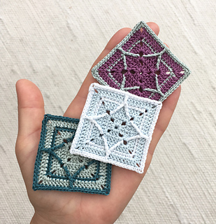 Northern Diamond Square - If you're thinking of starting a crochet blanket and want to give it that extra touch of 'oomph' - using any of these crochet squares might be the thing you need! #crochetsquares #afghansquares #crochetpatterns