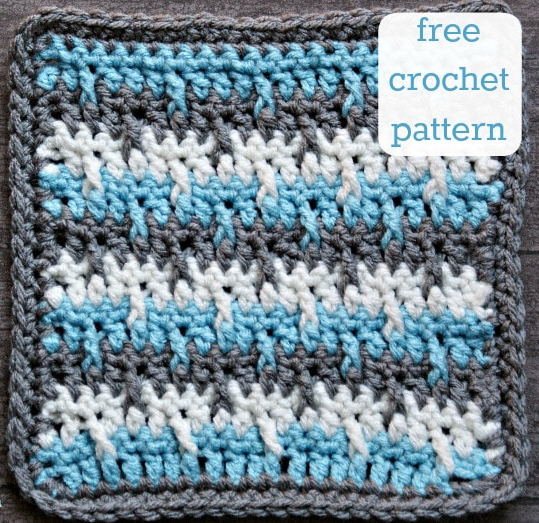 Serenity Afghan Square - If you're thinking of starting a crochet blanket and want to give it that extra touch of 'oomph' - using any of these crochet squares might be the thing you need! #crochetsquares #afghansquares #crochetpatterns