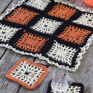 Spooky Spiderweb Square - If you're thinking of starting a crochet blanket and want to give it that extra touch of 'oomph' - using any of these crochet squares might be the thing you need! #crochetsquares #afghansquares #crochetpatterns